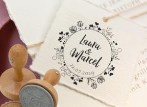 Unser neuer personalisierbarer Hochzeitsstempel No. 100014